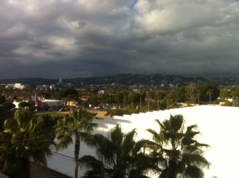 The view of Hollywood Hills from the LACMA.