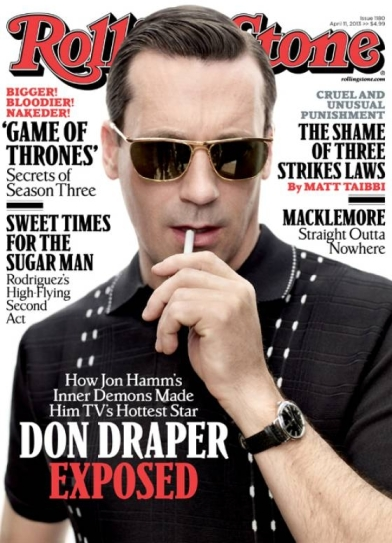 Jon Hamm on the cover of Rolling Stone.