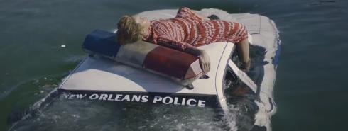 Beyonce on Police Car